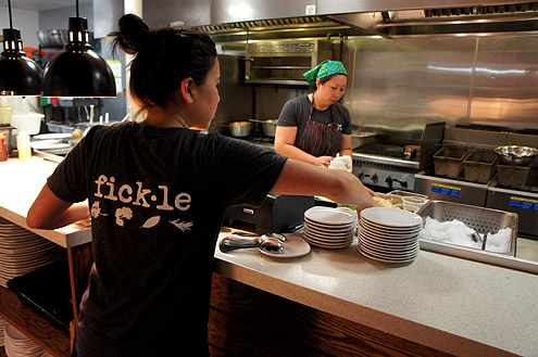 Fickle is now open in Little Tokyo in Downtown LA offering gourmet food in a casual setting (Photo: Brigham Yen)