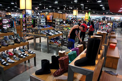 A large shoe department