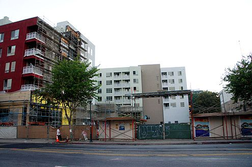 Initial prep work has started on the new cultural center at 649 N Broadway directly adjacent to the new Jia Apartments