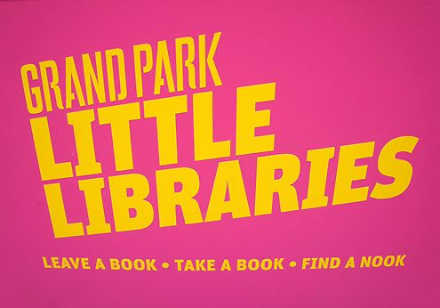 "The motto is: ""Give a Book, Take a Book, Find a Nook"" here at Grand Park"