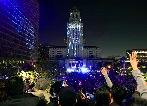 New Year's Eve Grand Park in Downtown LA