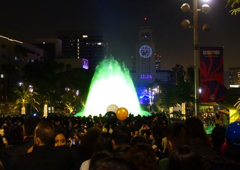 25,000 revelers packed into Grand Park to countdown to 2014