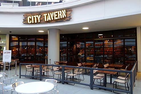 City Tavern has outdoor patio seating for up to 40 facing the FIGat7th courtyard