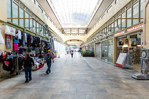 The Broadway-Spring Arcade, with a striking similarity to SF's Ferry Building, was actually inspired by Burlington Arcade in London (Photo: Hunter Kerhart)
