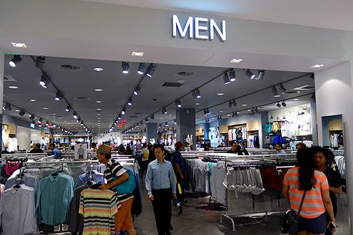 A large section for men