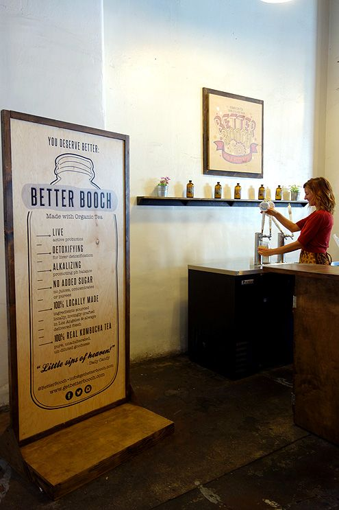 Better Booch serves up a refreshing variety of kombucha teas like Ginger Boost and Midnight Rose