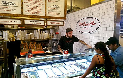 The newest addition to GCM, McConnell's Fine Ice Cream from Santa Barbara since 1949 offers the creamiest ice cream made from organic ingredients