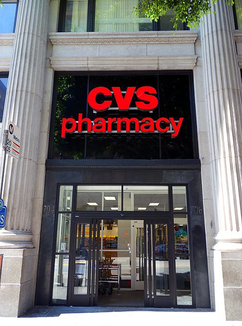 The main entrance to CVS along 7th Street