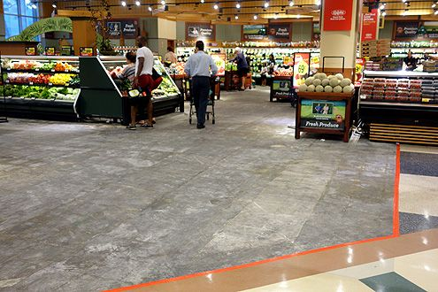 New flooring will be installed throughout the store