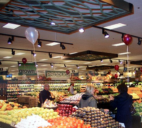 An expanded produce section with more organic offerings
