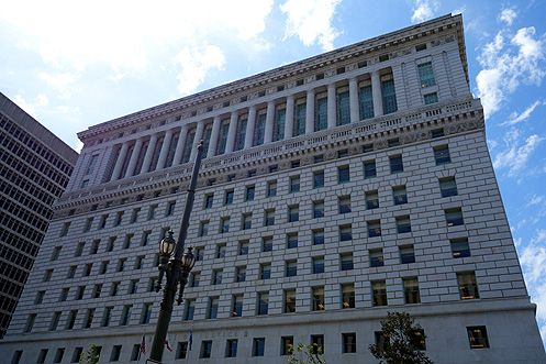 The 14-story Beaux Arts style Hall of Justice will reopen again in early 2015