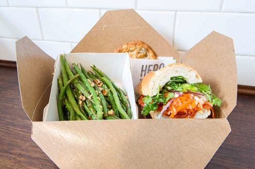 Box Lunch comes with sandwich, string beans, and cookie of the day