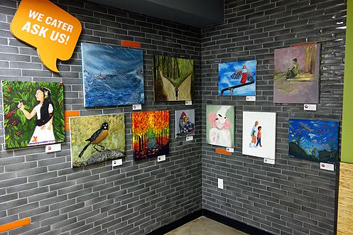 Local artists featured in the shop