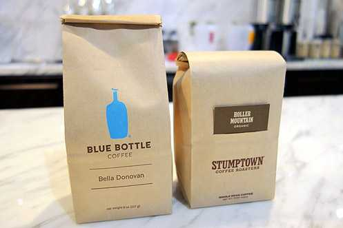 Barista Society carries Blue Bottle and Stumptown in addition to their own roasted beans