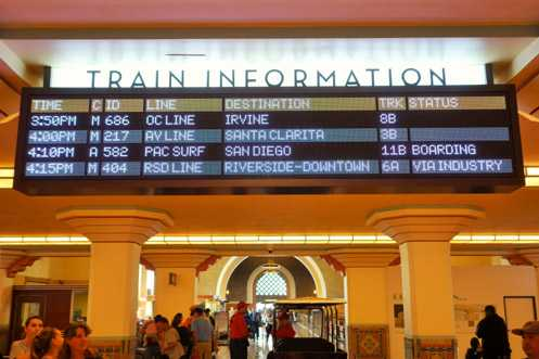 More of those very nice looking digital info screens for Amtrak and Metrolink