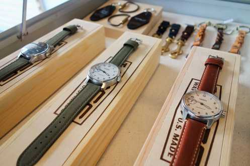 Wittmore carries unique brands like Weiss, which are handmade-in-LA watches