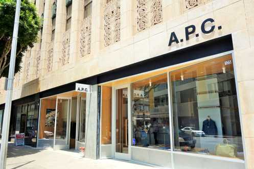 The new A.P.C. store in Downtown LA is now open near 9th and Broadway
