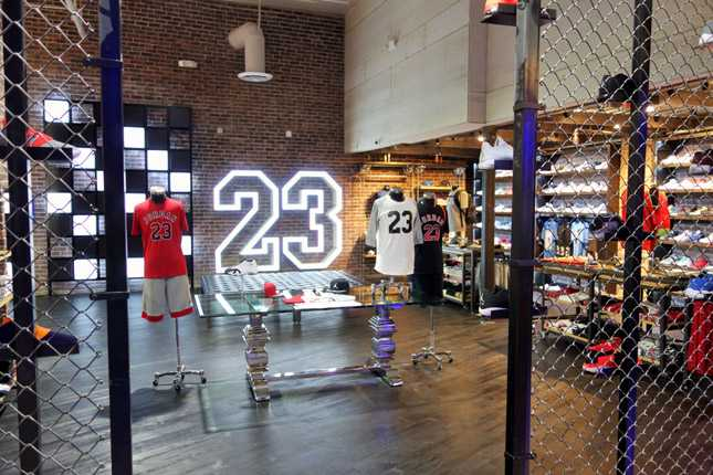 The new DTLA flagship store is the only one outside of SF to have a dedicated Jordan section