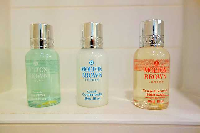 Level provides high-end Molton Brown bath products
