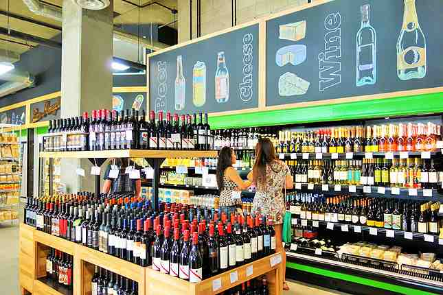 Beer and wine section