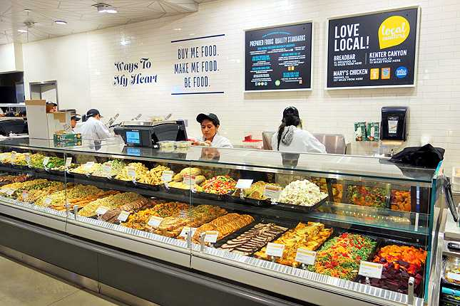 Fresh prepared foods section