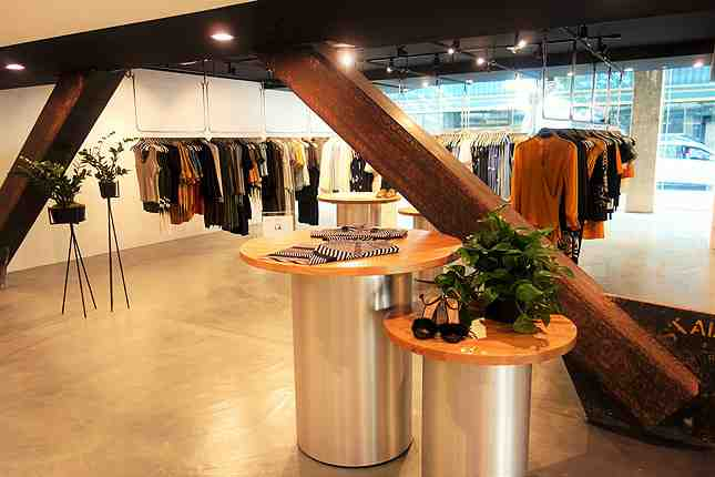 Bunker's new industrial chic store is minimalistic and expansive inside