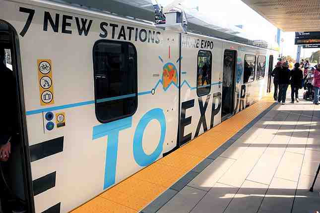 Seven new stations have opened as part of the new Expo Line service to Santa Monica