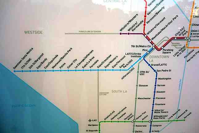 Rail to the Westside is finally here (and glad to see Metro label the future extensions as well)