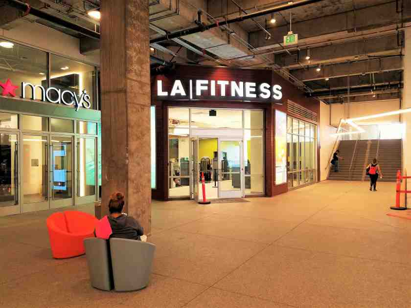 The new LA Fitness is now open inside The Bloc in Downtown LA with an entrance adjacent to Macy's