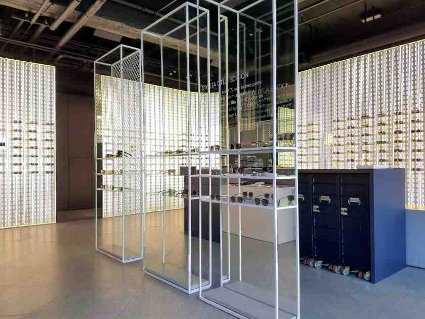 The new MyKita in Downtown LA is a 1,500 square foot boutique store inside the Eastern Columbia art deco tower