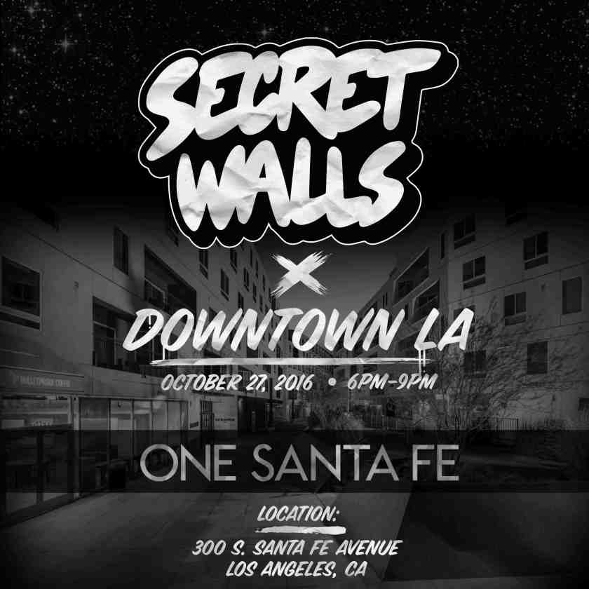 Secret Walls comes to One Santa Fe in DTLA Arts District