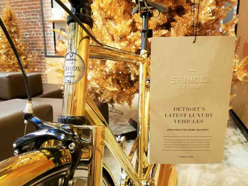 Shinola is known for their very fancy bikes (this brass one apparently costs about $8,000)