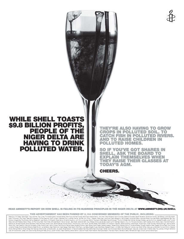 Amnesty International's banned Shell/Niger Delta ad