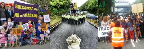 Images from the Balcomb fracking protest