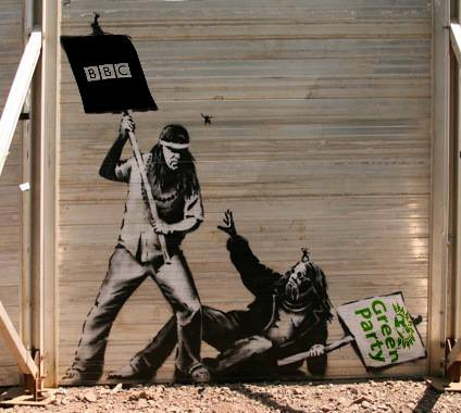 The exclusion of the Green Party by the major broadcasters - including the BBC - has angered many. Picture credit: Green Fist