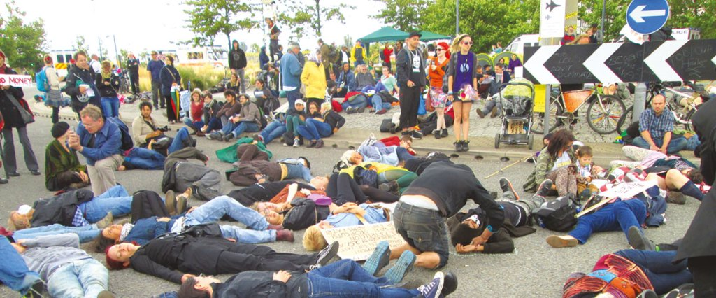 2014 Blockade at Excel Centre