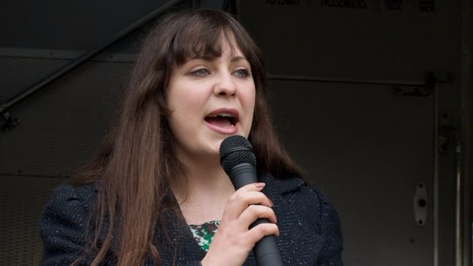 Amelia Womack- re-elected Deputy Leader of Green Party England and Wales