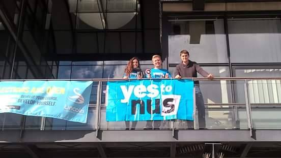The Yes campaign team at Lincoln. Photo credit: Bradley Allsop