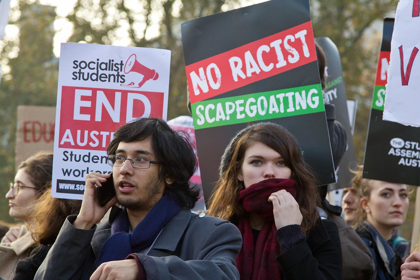 Student protest in 2014. Photo credit: flickr user Chris Beckett http://tinyurl.com/y9dpdkey Creative Commons license: https://creativecommons.org/licenses/by-nc-nd/2.0/