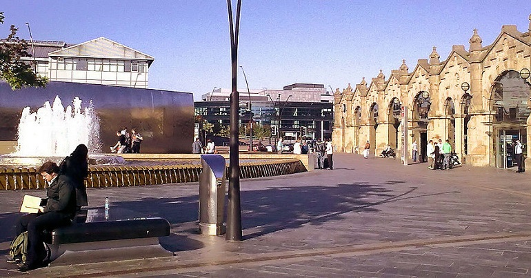 Sheffield station square