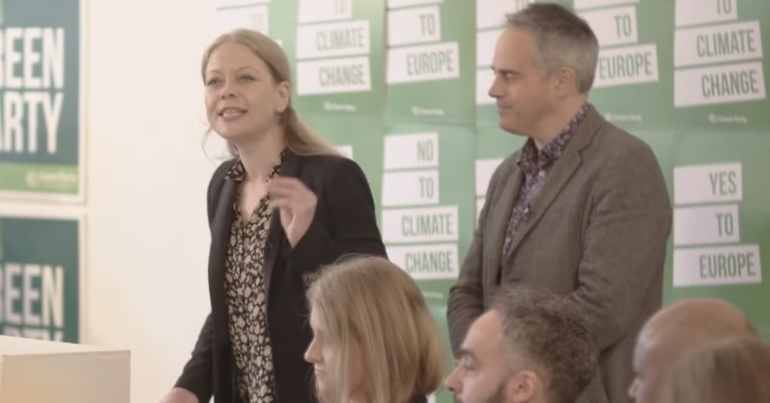 Green Party co-leaders Jonathan Bartley and Sian Berry