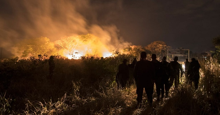 Chiquitania forest fire