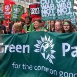 Green Party anti-austerity protest march from 2015.