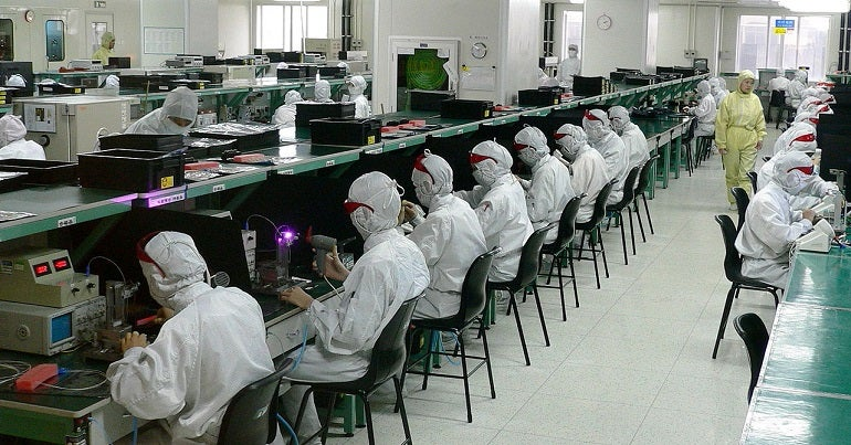 Electronics industry factory in Shenzhen, China