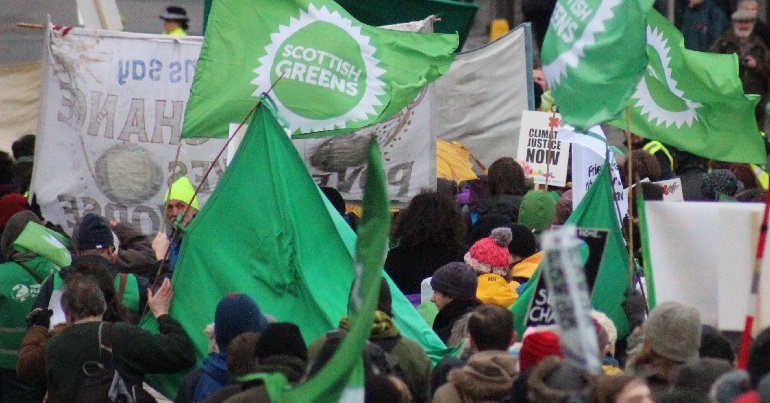 Scottish Green Party banners