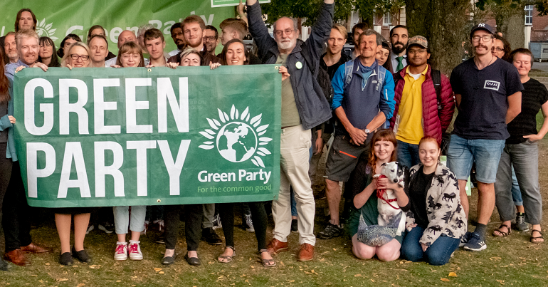 A group of Green Party activists