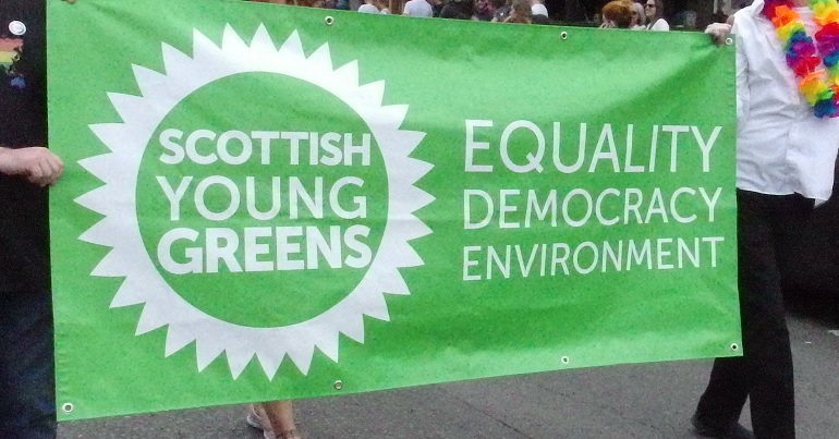 Scottish Young Greens banner