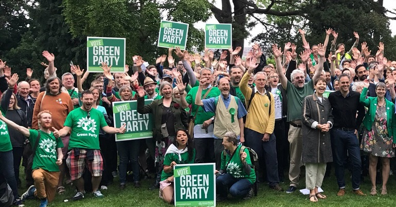 Green Party campaigners in Bristol