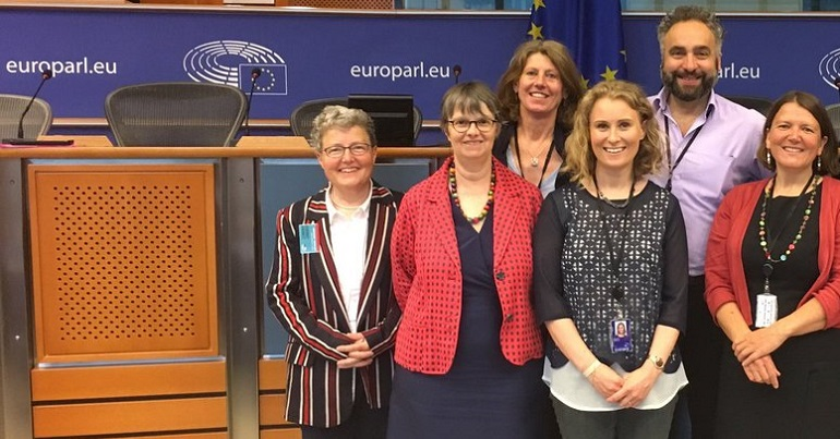 A photo of six of the seven former Green Parry MEPs