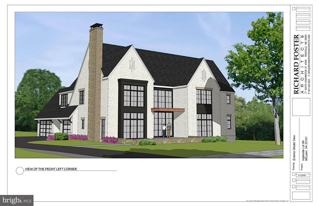 THIS RENDERING IS A SUGGESTION.  THE BUILDER WILL BUILD TO YOUR TASTE AND SPECIFICATIONS. Rare opportunity to own and customize your home to-be-built by Buchanan-Price located in an exclusive enclave of three new custom homes in a park setting and walkable to downtown Mclean. Three finished levels, custom gourmet kitchen, screened porch, and outdoor space to enjoy the breathtaking views of the park. Availability late 2019